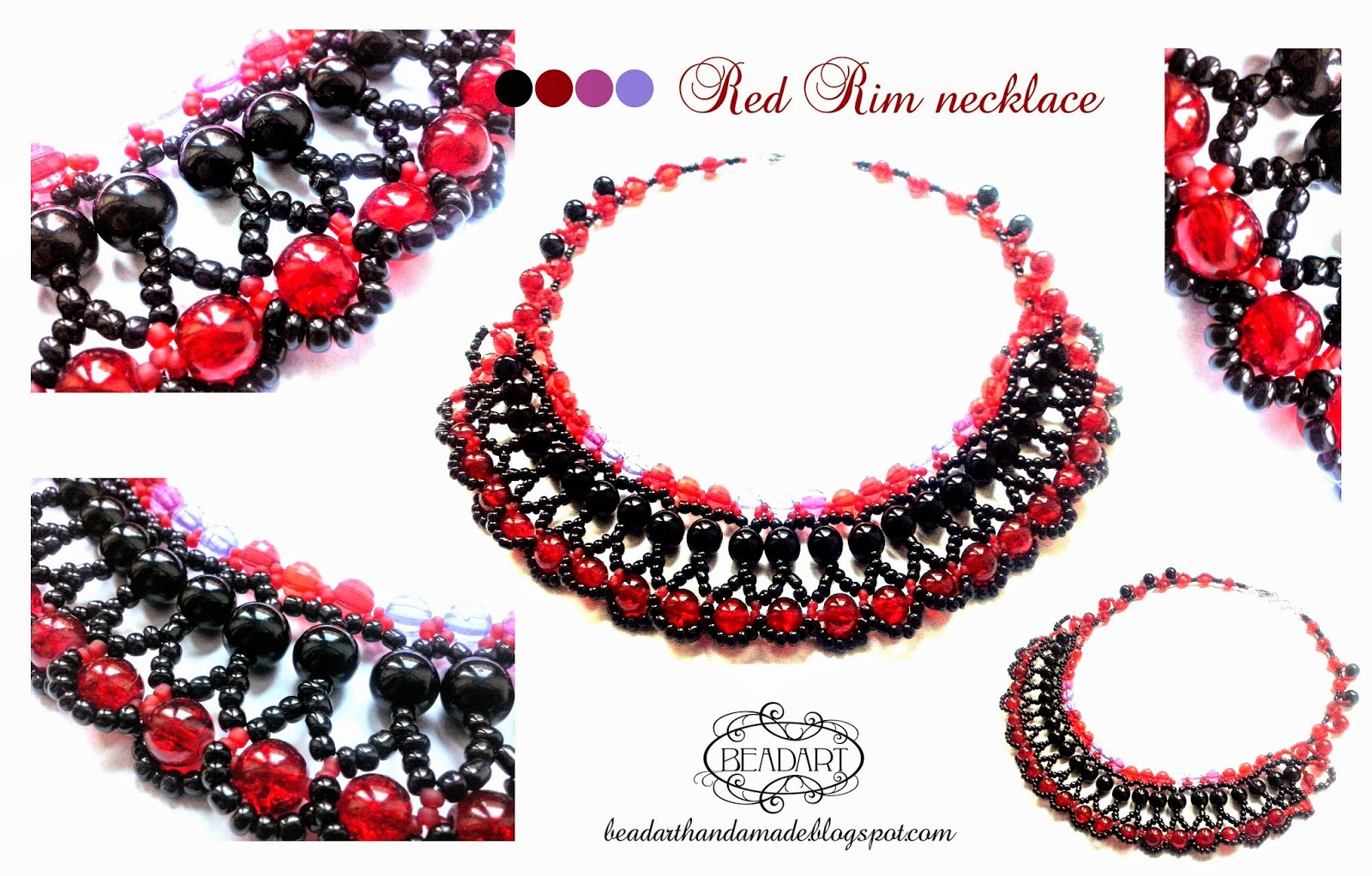 Red Rim necklace