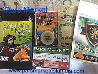 Selection of  Kava products we carry at Pars Market in Howard County Columbia Maryland 21045