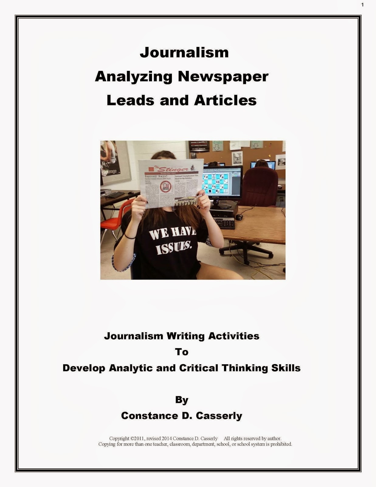 Journalism: Analyzing Newspaper Leads and Articles