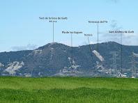 Les muntanyes de ponent destacant-ne el Turó de la Creu de Gurb