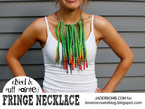 0c1174859b69 iLoveToCreate Blog  How to make a Tie-Dyed Fringe Necklace
