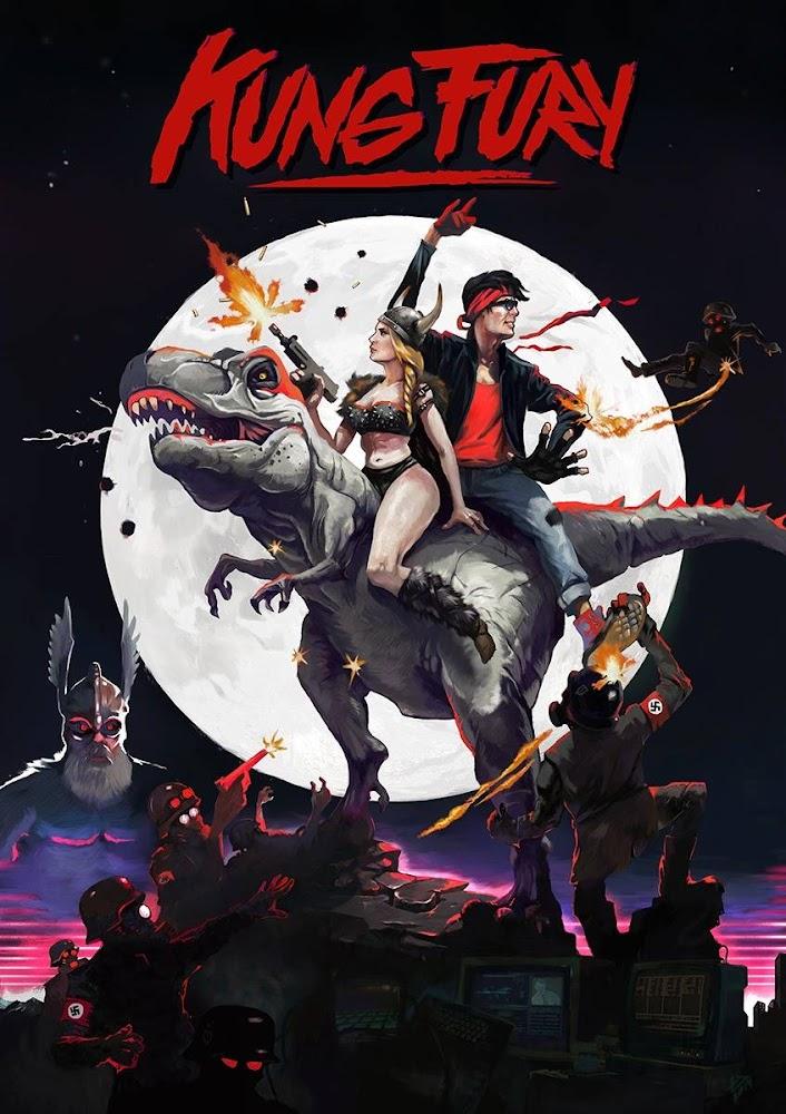 画像: CIA☆こちら映画中央情報局です: Kung Fury: 80年代のカンフー刑事が熱血の正義を貫くため、過去にタイムトラベルして、ナチの独裁者を倒す決戦に、巨人の雷神ソーたちが加勢する荒唐無稽なインディーズのアクション・コメディのバカすぎる映画「カン・フューリー」が約30分の全編を丸ごと、ネットで大公開!! - 映画諜報部員のレアな映画情報・映画批評のブログです