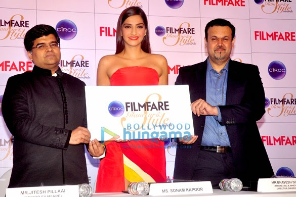 Sonam Kapoor graces the press conference of 'Ciroc Fimlfare Glamour & Style Awards'