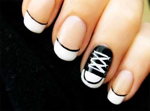 Teen Make Up And Fashion How To Do Converse Nail Art