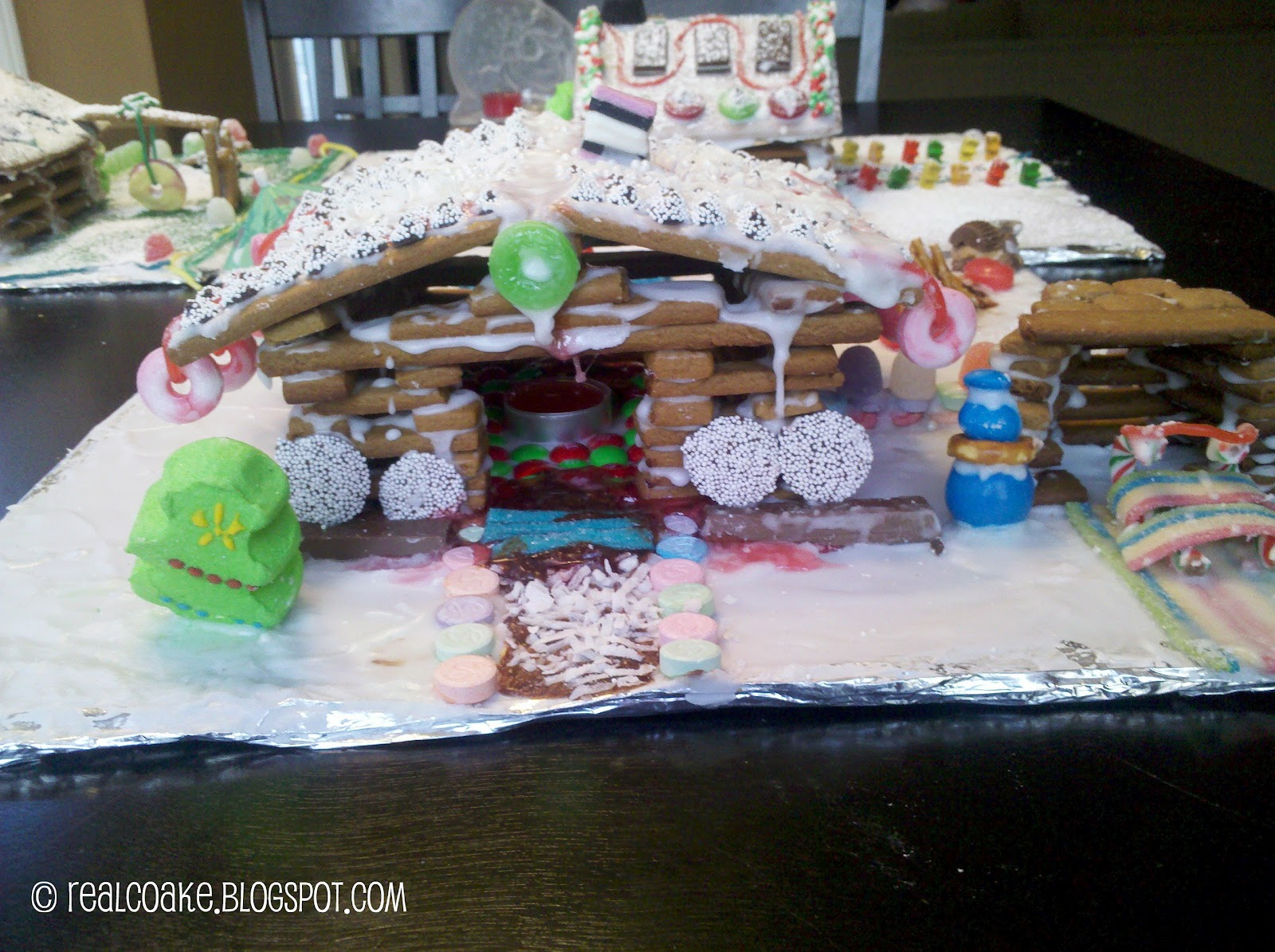 Gingerbread Houses The Real Thing With The Coake Family - Gingerbread house garage