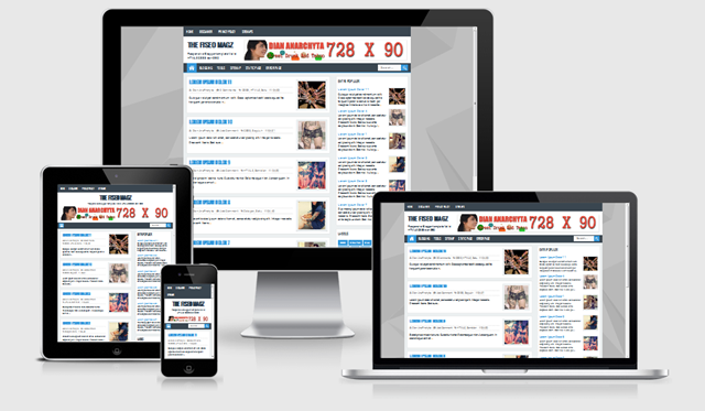 The FiSEO Magz Blogger Template, Template Responsive SEO Friendly
