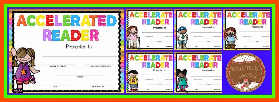 Accelerated reader award freebie pawsitively teaching complete awards unit with matching end of the year gift yadclub Choice Image