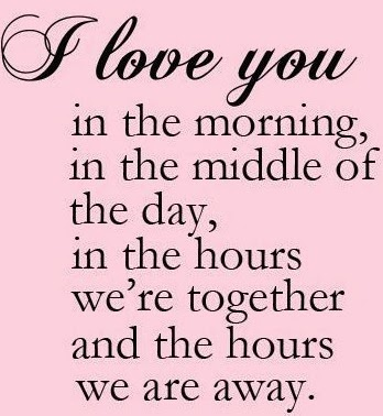 Love you all the time