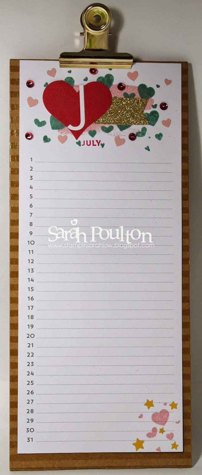 Stampin Up Calendar Ideas : Stampin sarah perpetual birthday calendar kit part