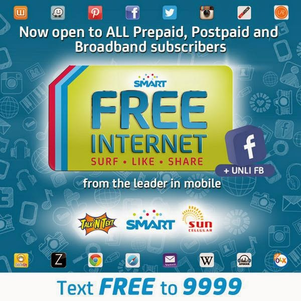 Smart, Sun and TNT offer free unli Facebook, expand Free Internet promo to postpaid, broadband subs until January