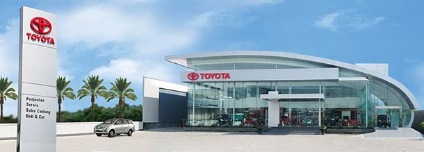 Dealer Toyota Kota Kota di Indonesia