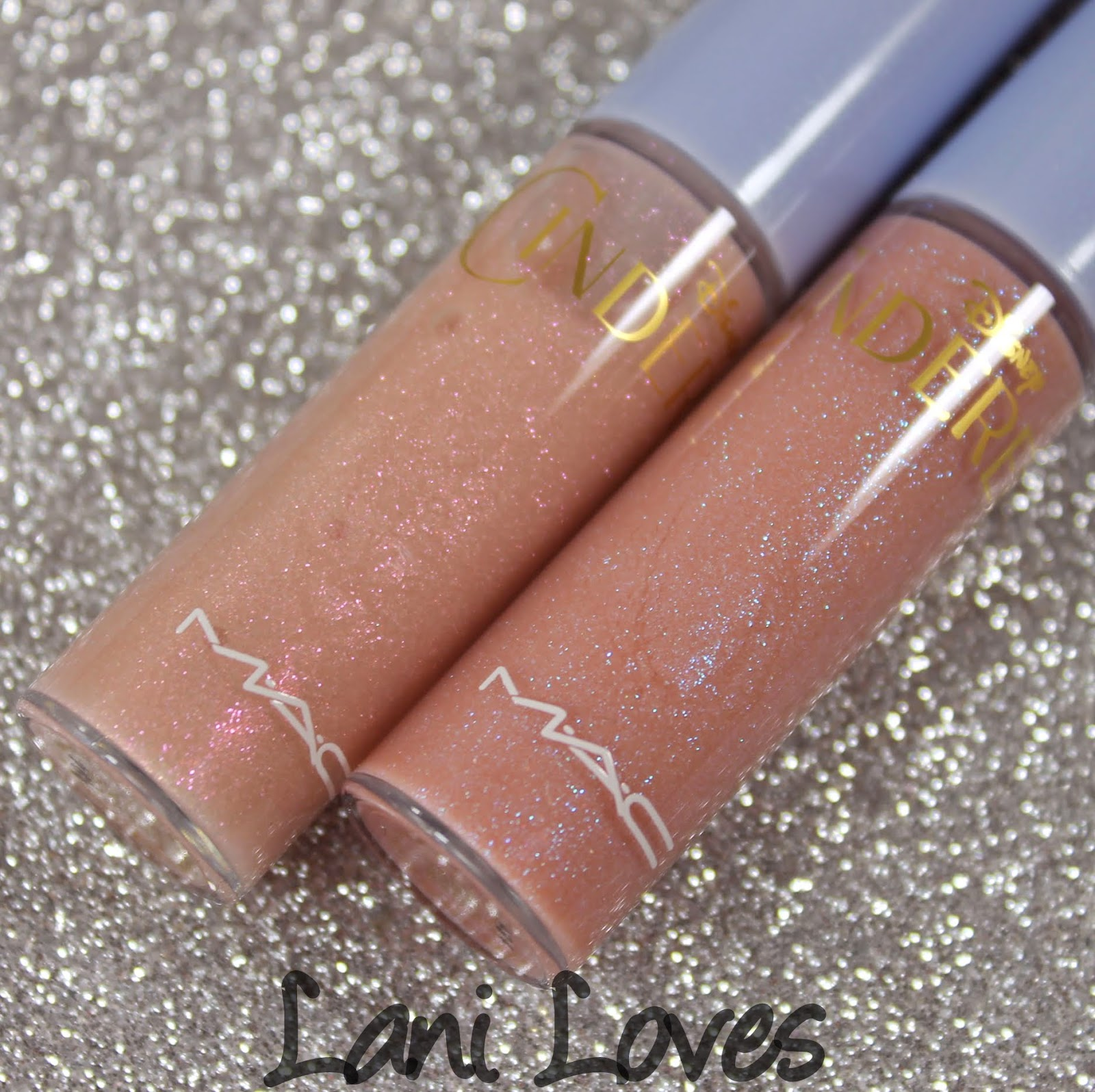 MAC Cinderella: Happily Ever After & Glass Slipper Lipglass Swatches & Review
