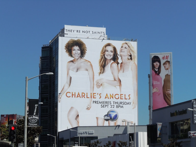 Giant Charlie's Angels billboard Sunset Strip