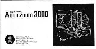 Sunpak AutoZoom 3000 Thyristor Instruction Owners Manual