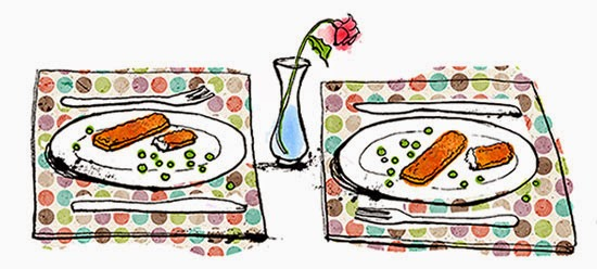 dinner for two, romantic dinners, keeping the romance, keeping romance alive, romantic, fish fingers, parenting, motherhood, mother diaries