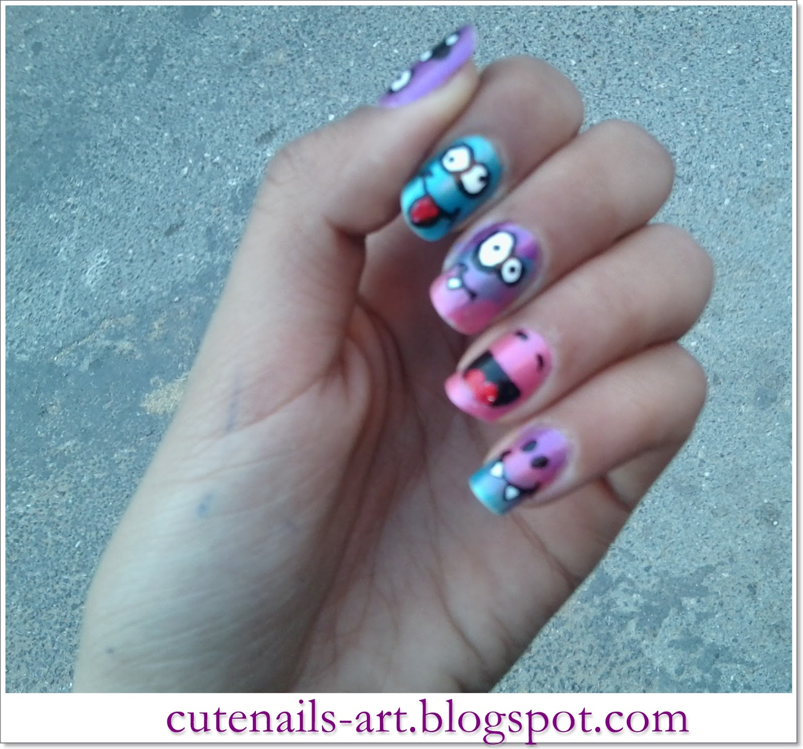 Cutenails Art Crazysmiley Faces Nail Art
