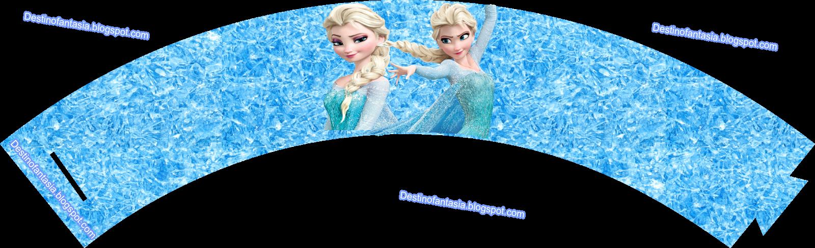 Embalagem para CupCake Festa frozen