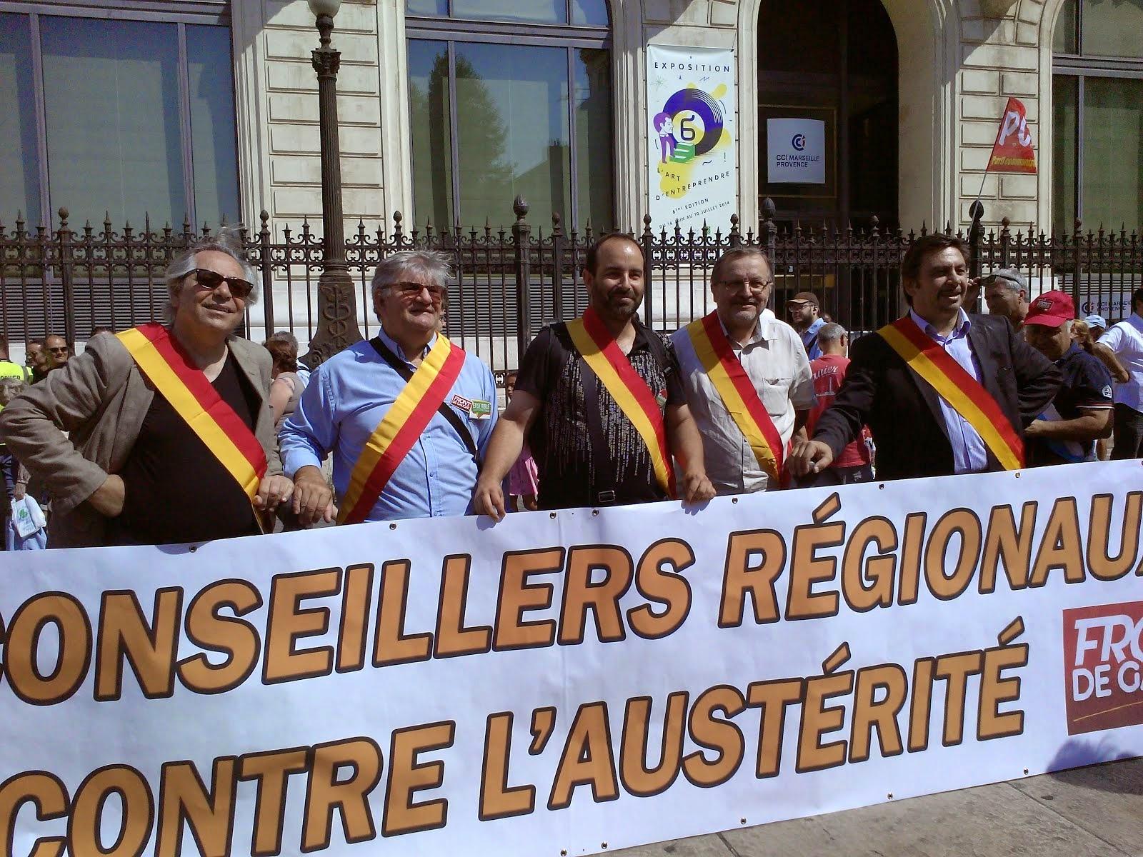 Manifestation sur la Canebière contre l'austérité