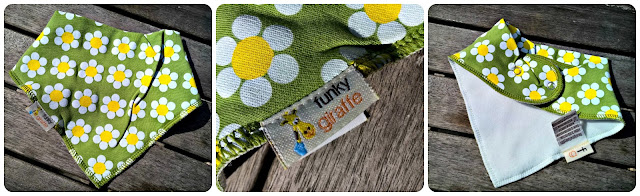 Funky Bibs from Funky Giraffe - Review and Giveaway Daisies Bandana