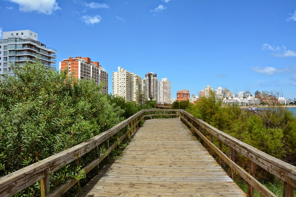Punta del Este beach boardwalk