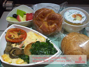 Photos of Emirates inflight food (emirates food seafood meal )