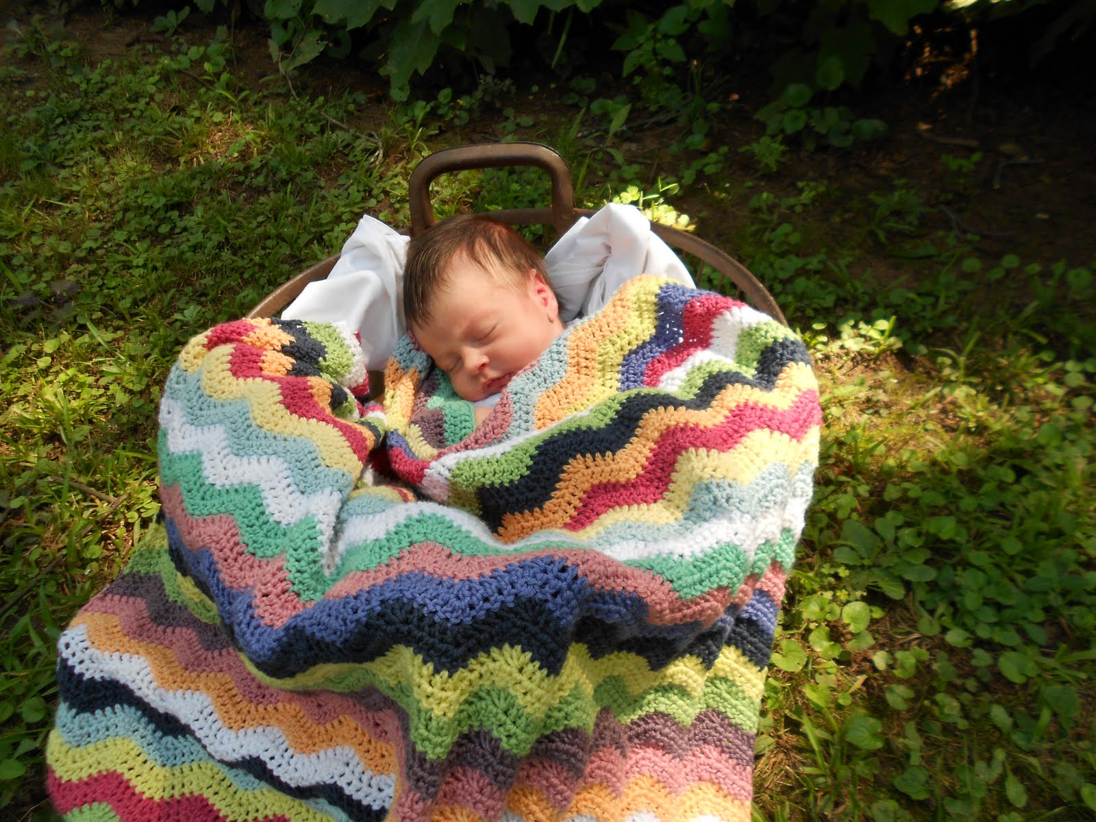lines... in pleasant places: Baby Ripple Afghan