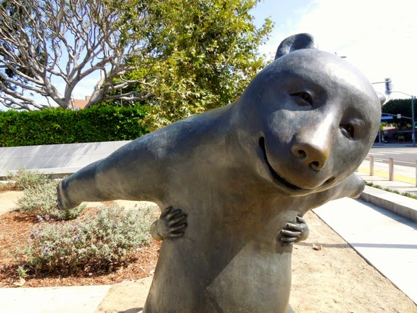 Game bear bronze sculpture West Hollywood Park