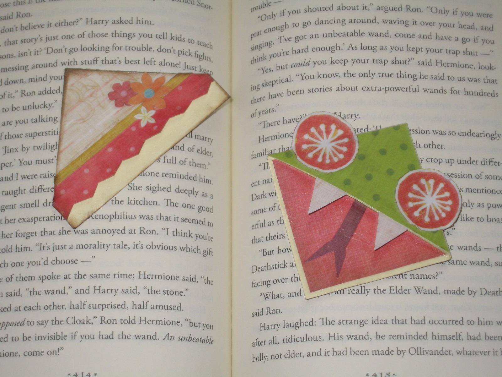 Cookie Nut Creations: Corner Bookmarks