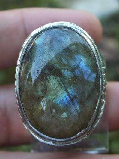 cincin batu labradorite