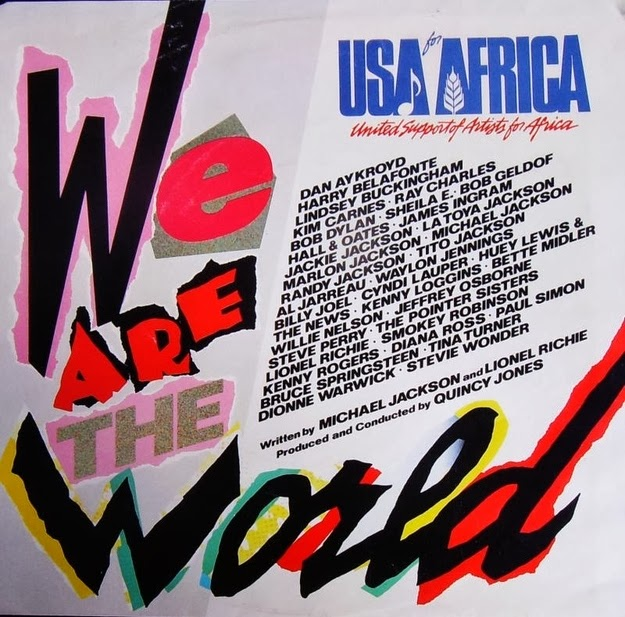 "Listening to your ""We Are the World"" 7-inch…"