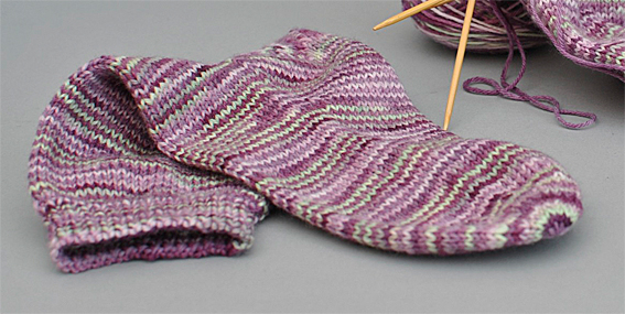 Colour Choices: Basic Sock Pattern 1