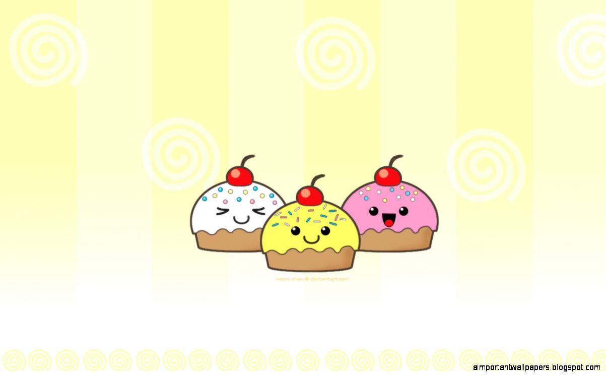 Cute Cupcake Cartoon Desktop