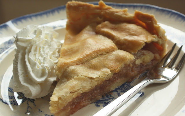 appeltaart, slagroom, vintage bord, recept