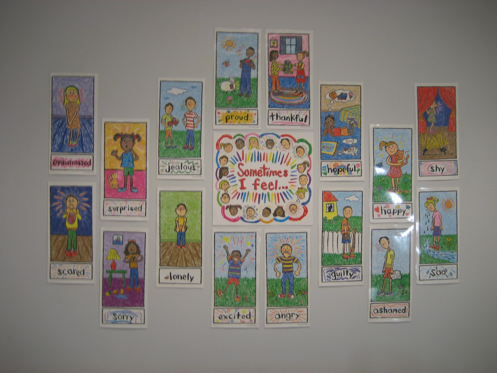 school counselor blog how i decked my walls tips for setting up kid draw emotions posters