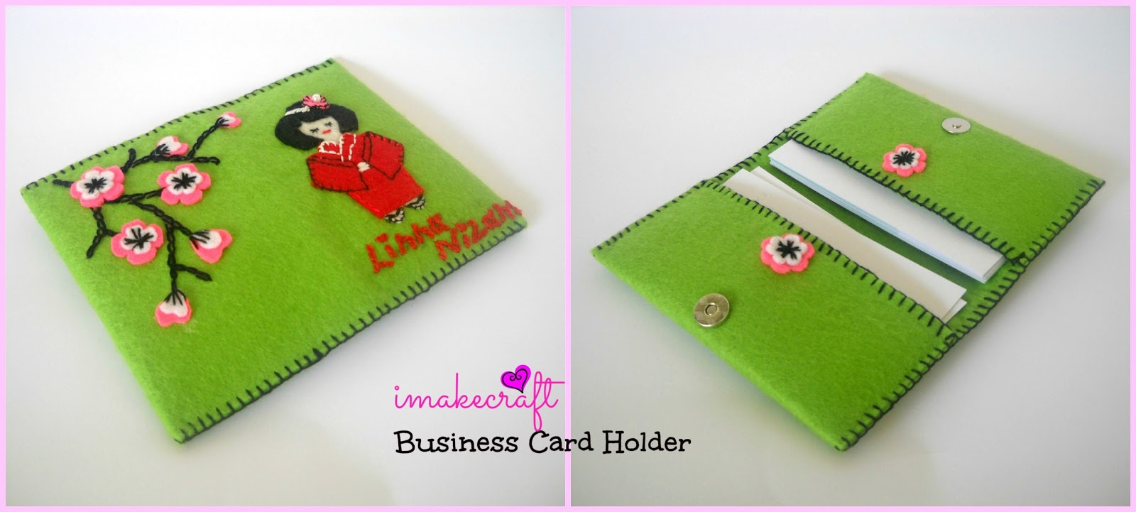 imakecraft: Handmade Business Card Holder