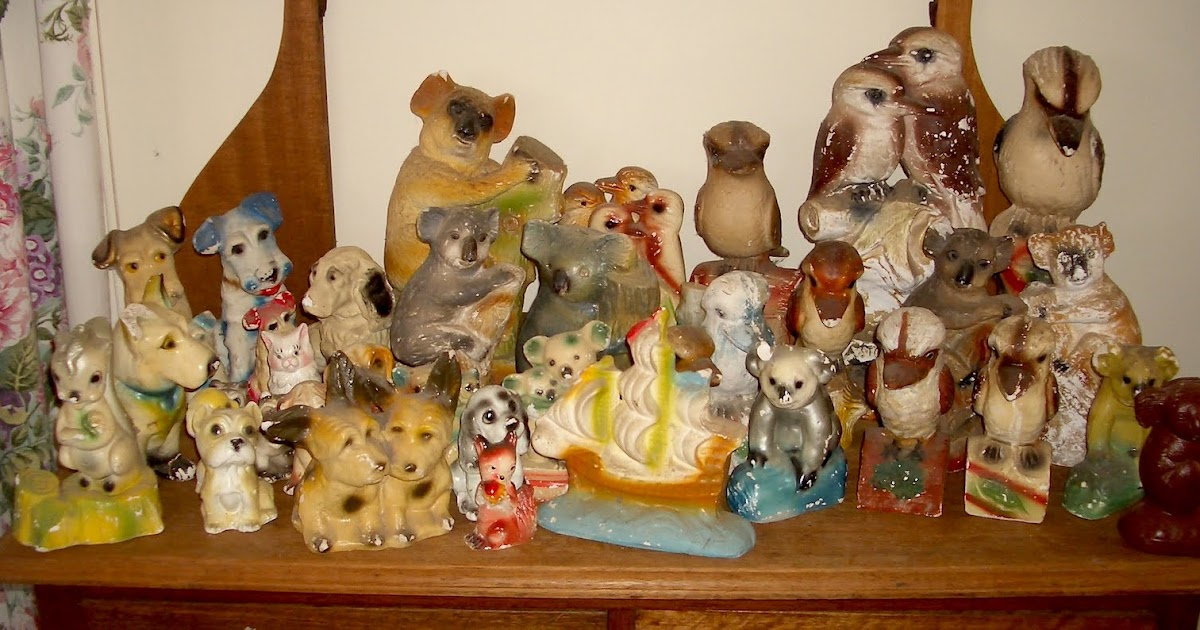 Vintage Plaster Carnivalware Squirrel Figurine