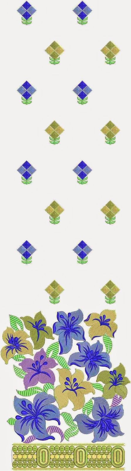 Golden Kasab draad naaldwerk veelkleurige Lawn pak