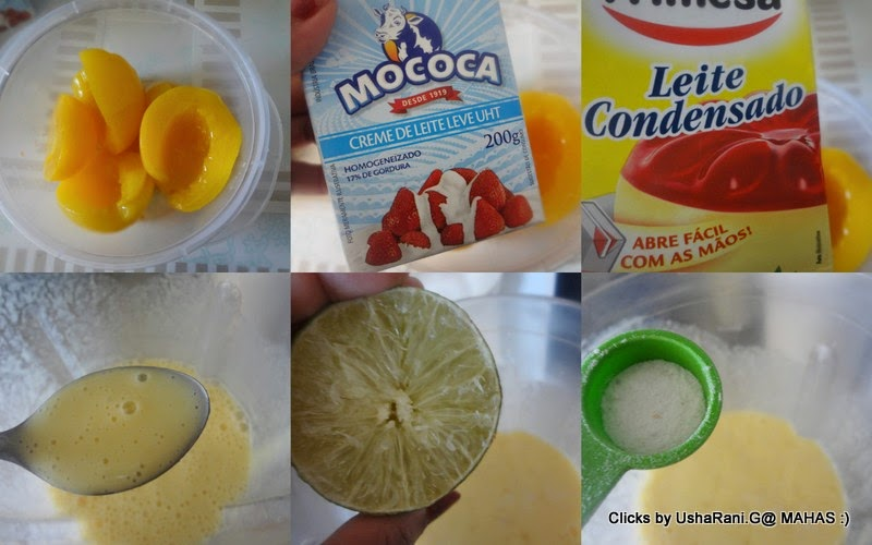 Home Made Easy Peach Sorbet With Canned Peaches   Healthy Canned Peach ...