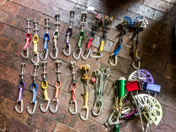 Rock climbing gear list