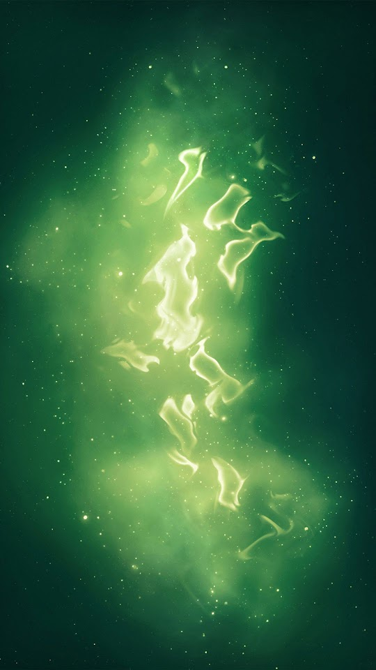 Abstract Green Galaxy  Galaxy Note HD Wallpaper