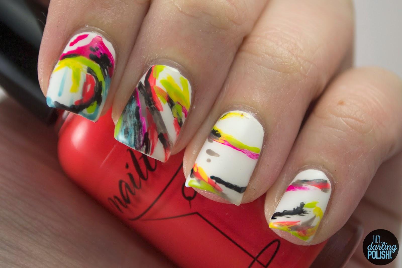 nails, nail art, nail polish, polish, hey darling polish, music monday, ivory,
