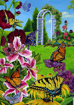 Butterflies in the Garden Flag