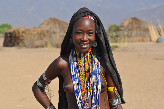 African Tribal Women Arbore are a nomadic tribe who