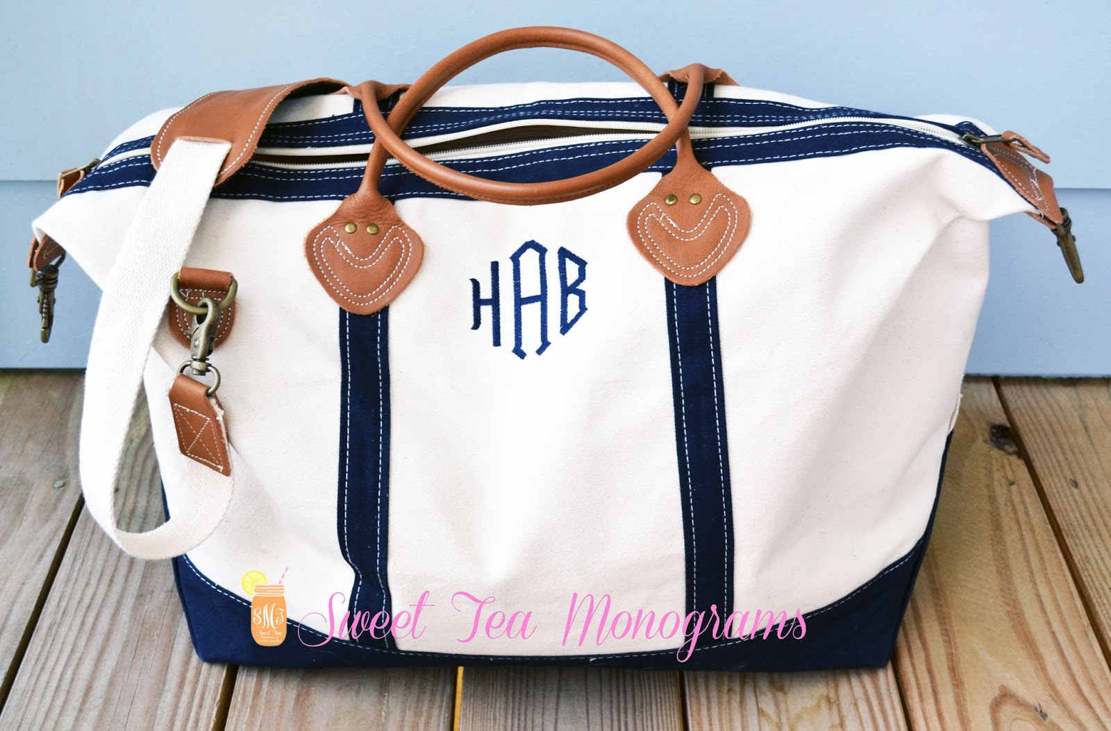 Sweet Tea Jubilee: Monogram Monday: Canvas Weekender