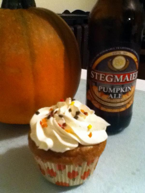 The Tiny Tyrant's Kitchen: Pumpkin Ale Cupcakes with ...