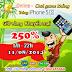 iOnline khuyến mãi 250% Giờ vàng ngày 11/08