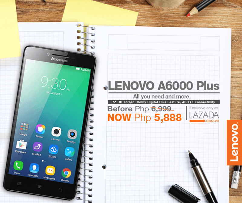 Lenovo A6000 Plus Lazada sale
