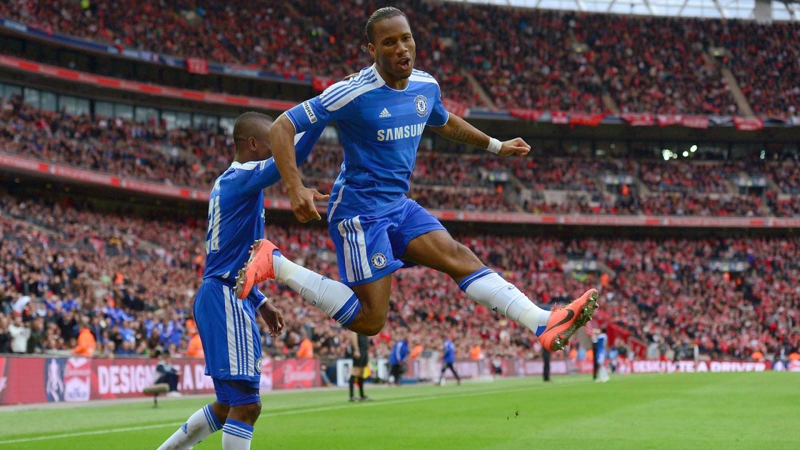 Chelsea FC drogba jump
