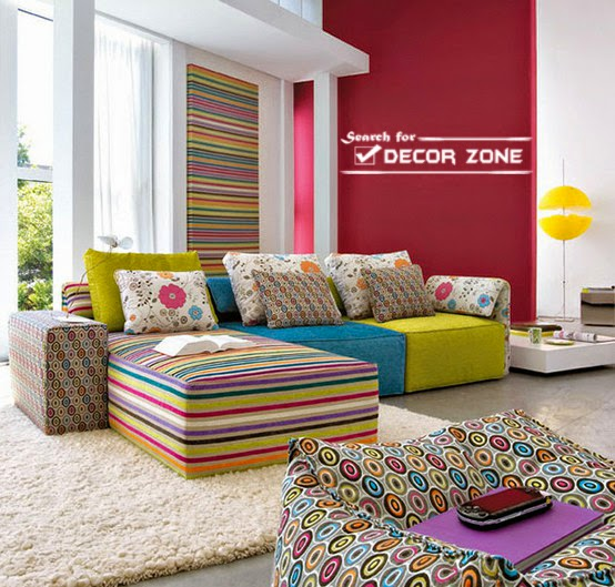 Living Room Decorating Ideas Bright Colors Modern House