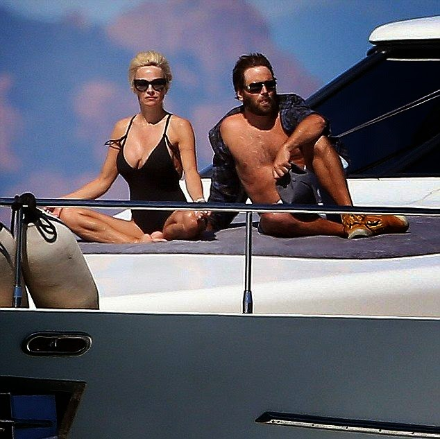 But, it's never make her decision to change as Pamela Anderson looked to be more closely during her sunbathing moment on a yacht with husband, Rick Solomon in Saint Tropez on Saturday, May 24, 2014.